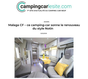 Camping-car présente la nouveauté de printemps NOTIN : Malaga CF