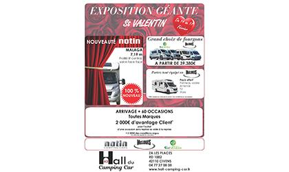 exposition géante au hall du camping car 42 du 14 au 17 février