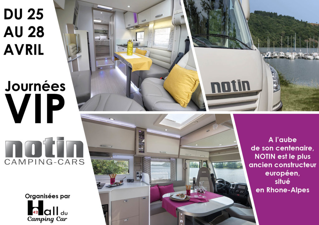Journées VIP au Hall du Camping-car 42 du 25 au 28 avril