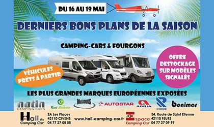 Les véhicules NOTIN font partie des bons plans présentés par le Hall du Camping-Car 42 du 16 au 19 mai