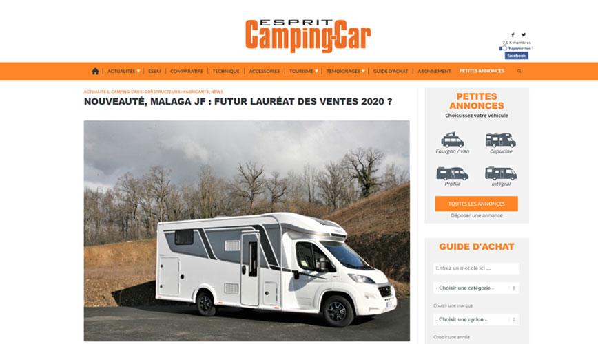 Article Malaga JF - Esprit Camping-car
